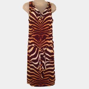Jones New York Signature Womens Animal Print Dress